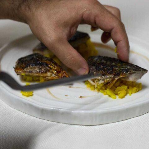 Piatto di pesce del ristorante Mirador
